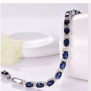 Sapphire White Cz White Bracelet